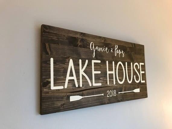 Custom Sign, family name sign, custom name sign, house sign, house warming gift, Custom Christmas gift, lakehouse sign