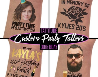 30th Birthday Party Favors | 30th birthday for her, for him, dirty 30, thirsty thirty 30, flirty 30 thirty, custom tattoos, thirty af, decor
