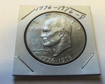 Bicentennial (1776-1976-D) Eisenhower Dollar