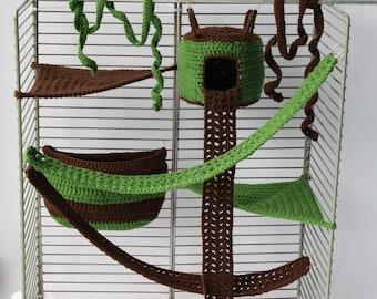 8 pieces sugar glider cage set sugar glider hammock sugar glider house sugar