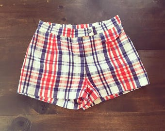 Red white and blue shorts | Etsy