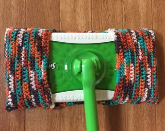 Crochet Swiffer Cover Pad - reusable