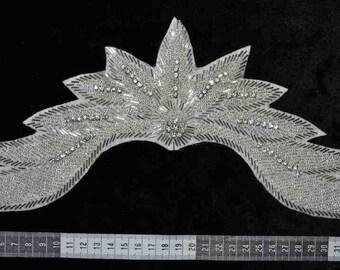 Large Rhinestone Crystal tiara/crown appliqué