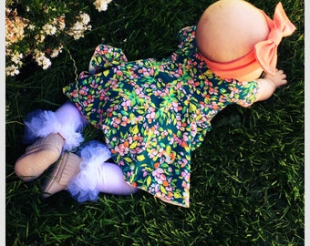 Peplum baby dress, baby girl clothing, modern baby girl, baby gift ideas, baby headbands, baby dresses, bodysuit dress, girl clothing