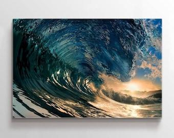 Extra Large Wall Art Canvas Amazing Wave Taken Inside