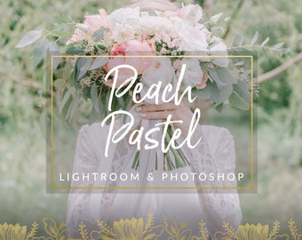 Peach Pastel Toned Wedding Lightroom Presets & Photoshop Filters for Photographers