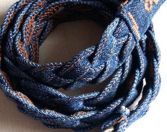Vintage 70s Belt, Denim Belt, 70s Denim Belt, Jeans Belt