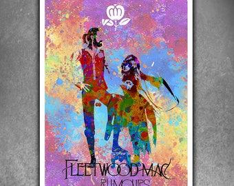Fleetwood Mac, Rumours Poster. Canvas Print Poster, Music Poster, Gifts for Musician, Poster Print, Wall Art, Room Decor, Fleetwood Mac Art