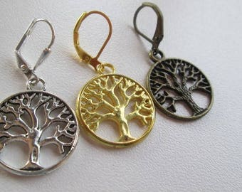 Tree of life, Celtic, gold, bronze, silver, handmade, earrings, jewelry, Spain, gift, mother, Christmas, Valentine's Day