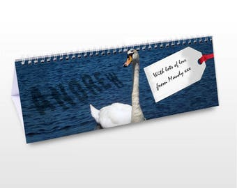 Personalised Birds Desk Calendar Gifts Ideas For Bird Watching Sights Sighting Presents Mens Womens