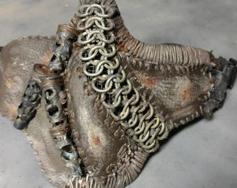 Post Apocalyptic/Steampunk Half-face Mask (2 straps)