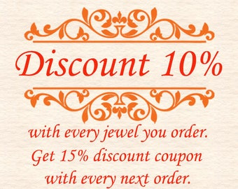"""Discount Coupon 10 percent with every purchase.Apply Coupon code""""COSMOLITHOS10"""" and Get 10 percent discount for every item you order."""