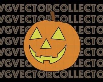 Jack-o-lantern Halloween Pumpkin, SVG DXF EPS Png, Clip Art, Instant Digital Download