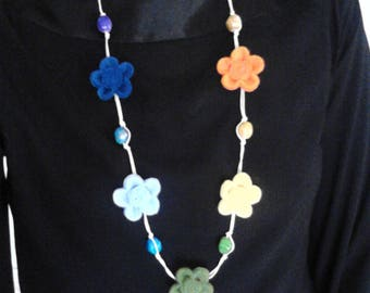 KIT to make 7 flowers in the colors of the Rainbow / chakra