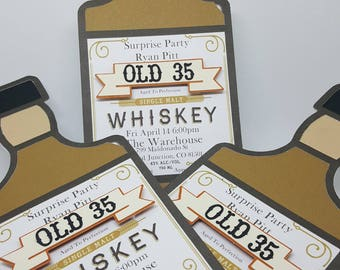 Whiskey Bottle Invitations