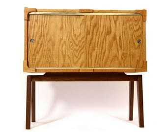 Brassfield Originals Record Cabinet in Mid-Century Modern Style - FREE SHIPPING