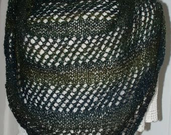 (2) black mohair shawl