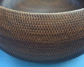 Black walnut textured bowl