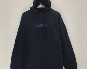 Vintage VOLCOM STONE Hoodie Sweatshirt Big Logo Spell Out Sweaters Size Large