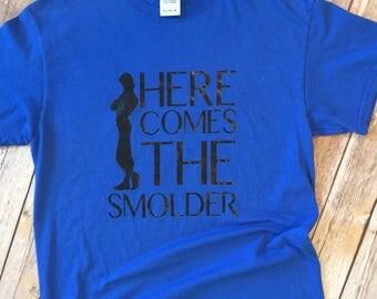 Here Comes the Smolder Shirt * Flynn Rider Shirt * Tangeled Shirt * Men's Disney Shirt * Disney Rapunzel Shirt * Disney Vacation Shirt