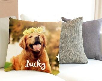 Photo Pillow, Personalized Photo Throw Pillow, Custom Pillows, Name Pillow, Dog Photo Pillow, Pet Memorial, Custom Pet Pillow,Pet Pillow,