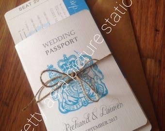 passport wedding invitation,destination wedding invitation,travel themed wedding invitation save the date