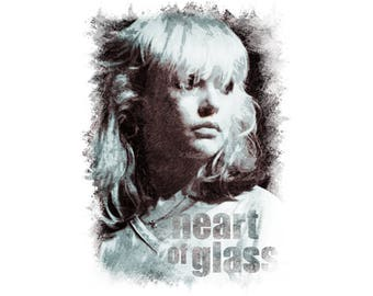 T-SHIRT: Blondie / Heart Of Glass - Classic T-Shirt & Ladies Fitted Tee - (LazyCarrot)