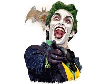 T-SHIRT: Joker / Batman - Classic T-Shirt & Ladies Fitted Tee - (LazyCarrot)