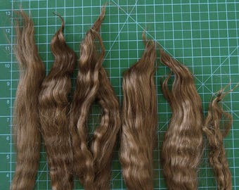 12-13 inches long medium brown mohair for Blythe, reborn rerooting