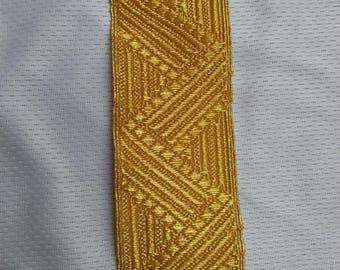 Gold metallic thread braid,lace,mylar thread braid,decoration,uniform,trim,36mm,Epaulette,chursh