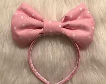 Baby Pink oversized Bow Headband