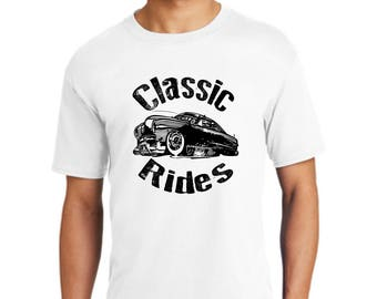 Classic Rides Collection Cars T-shirt-Collectible cars t-shirt-Vintage cars shirt-Antique cars t-shirt-old cars tee-gift t-shirt