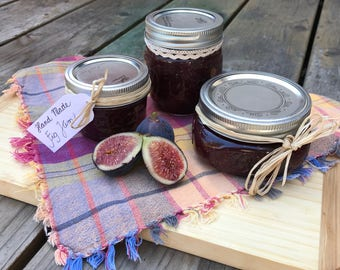 Hand Made Organic Fig Jam, Marmelade, Jelly, 4oz. or 8oz.