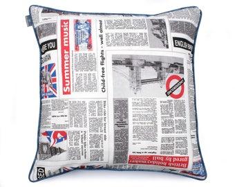 We Love Beds Newspaper Pillow Case