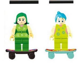 Lot of 6 Lego figures Inside Out customized