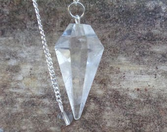 Quartz Pendulum - Faceted Gemstone - Exact Item Shown