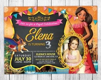 Elena of Avalor Invitation, Elena of Avalor Birthday Invitation, Elena of Avalor Birthday Party, Elena of Avalor Thank You Card