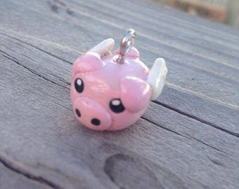 When Pigs Fly Polymer Clay Charm