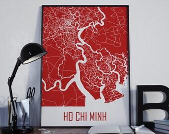 Ho Chi Minh City Ho Chi Minh Map Street Map Ho Chi Minh City Map Ho Chi Minh Wall Art Ho Chi Minh Print Ho Chi Minh Photo Ho Chi Minh Poster