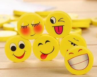 Emoji Erasers - 20 Pcs Smiley Face Eraser - happy face eraser