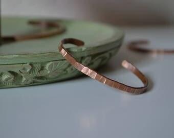 Forged Copper Bracelets