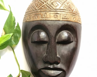 Wooden Mask Wall Decor Made in Indonesia