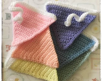 Crochet rainbow bunting - newborn/nursery gift, party or campervan!