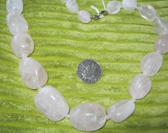 Rose Quartz Necklace 20in
