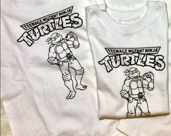TEENAGE MUTANT NINJA Turtles Color Me In Shirt, Kids Coloring Shirt, Birthday Shirt, Coloring Book Shirt, Kids Gift