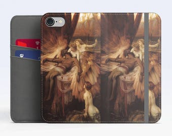 "Herbert James Draper, ""The Lament for Icarus"". iPhone 8 Wallet case, iPhone 7 Wallet case  iPhone 6 Plus Wallet case. Samsung Wallet cases."