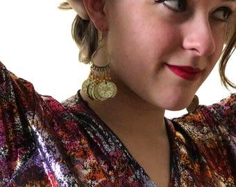 Figure Eight Coin Earrings