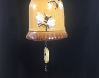 Vintage Ceramic Bumble Bee Believe Bell