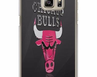 Custom Chicago Bulls  Phone Case for Samsung Galaxy S8 S8 Plus Apple Iphone 6 6s plus 7 plus  S7 S7 edge