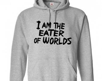 Eater of Worlds It Movie Pennywise Unisex Hoodie Pullover Hooded Sweatshirt Many Sizes Colors Custom Horror Halloween Merch Massacre